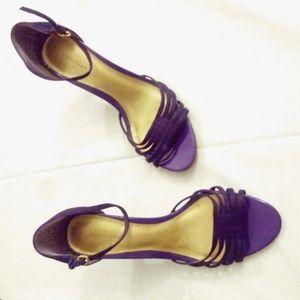 Attention purple neha open toe sandal heels